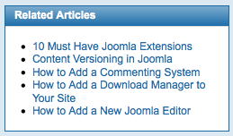 Joomla Related Articles
