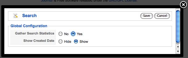 tracks Joomla site searches
